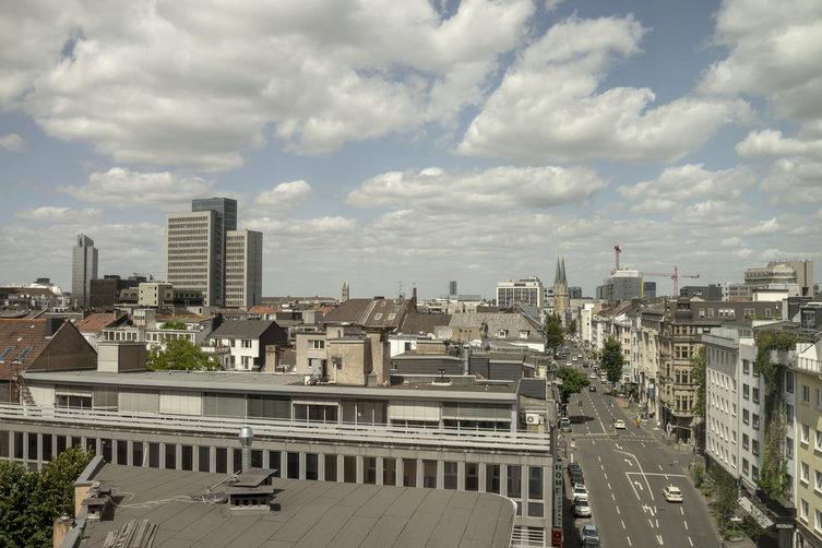 Architecture in Düsseldorf: View over the City
