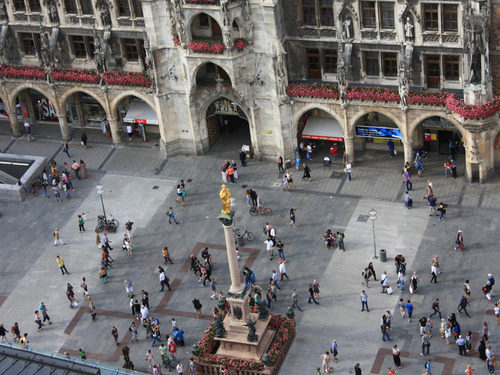 "View from the ""Old Peter"" on the Marienplatz Munich"