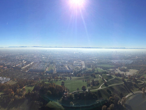 View over Munich from the Olympia Tower
