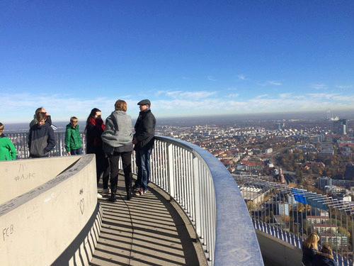 On top of the olympia tower in Munich