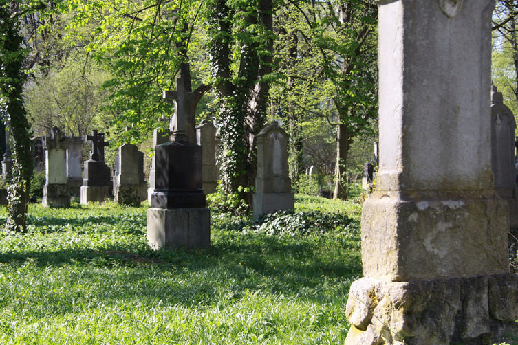 Gravestones on Munich's Old Southern Cemetery